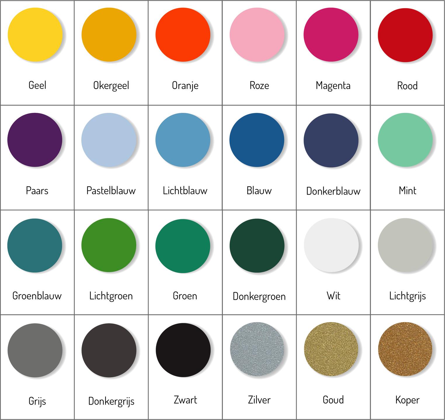 Kleuren muurstickers | Muur & Stickers