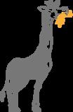 Muursticker Giraf | Muur & Stickers