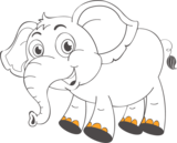 Muursticker Olifant | Muur & Stickers