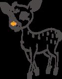 Muursticker hert | Muur & Stickers