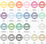 Kleuren muursticker button | muurenstickers.nl