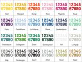 Kleuren muursticker cijfer | muurenstickers.nl