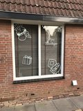 Raamsticker Sint & Piet | Muur en Stickers