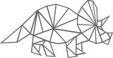 Muursticker triceratops geometrisch | Muur & Stickers