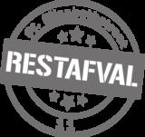 Containersticker stempel restafval | Muur & Stickers