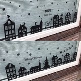 Raamsticker sinterklaas en kerst 1,5m zwart | Muur & Stickers