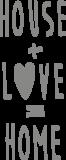 Muursticker house + love = home | Muur & Stickers