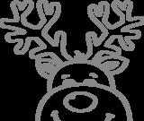 Raam sticker kerst rendier | muurenstickers.nl