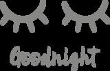 Muursticker Goodnight dichte oogjes | Muur & Stickers
