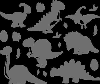 Muursticker 'Dino's' set (7 dino's)