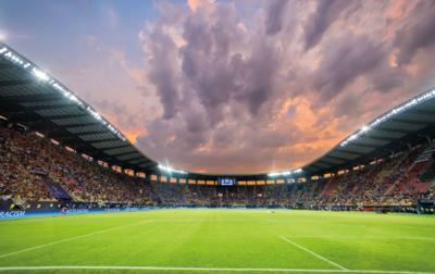 SALE | Muursticker 'Voetbalstadion'