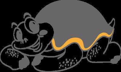 Muursticker 'Schildpad'