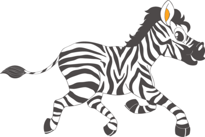 Muursticker 'Zebra'