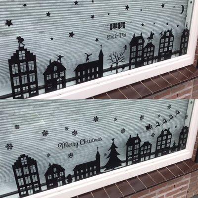 Raamsticker 'Sinterklaas en Kerst'