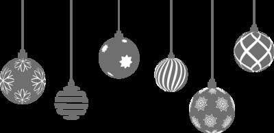 Raamsticker 'Kerstballen'