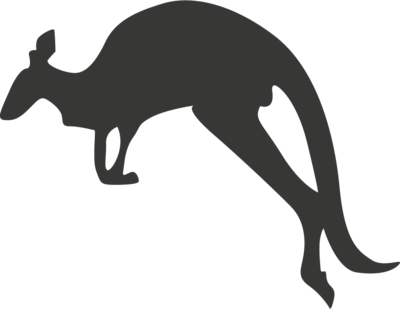 Krijtbordfolie 'Kangoeroe'