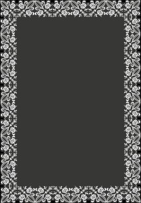 Krijtbordfolie 'Omlijsting rechthoek'