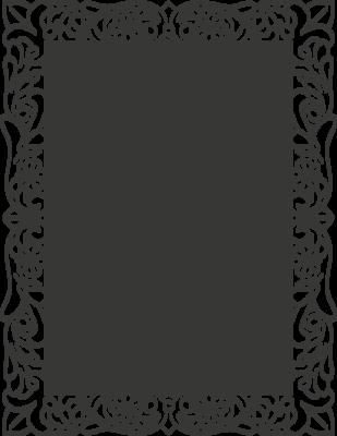 Krijtbordfolie 'Omlijsting bloem'