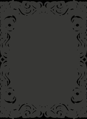 Krijtbordfolie 'Omlijsting krul'