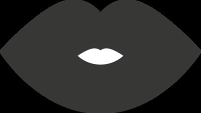 Krijtbordfolie 'Lippen'