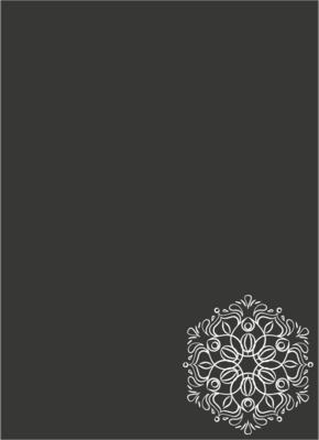 Krijtbordfolie 'Ornament staand'