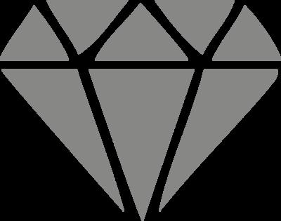 Muursticker 'Diamant'