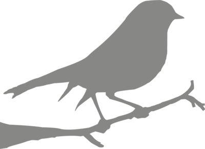 Muursticker 'Vogel'