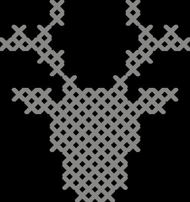 Muursticker 'Rendier kruisjes'
