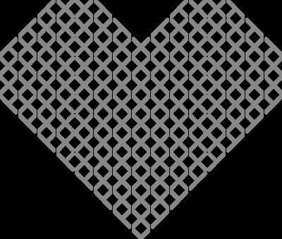 Muursticker 'Hart kruisjes'