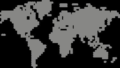 Muursticker 'Wereldkaart dots'