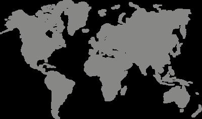 Muursticker 'Wereldkaart'
