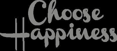 Muursticker 'Choose happiness'