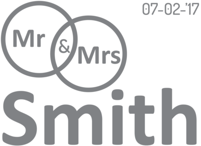 Muursticker 'Mr & Mrs Smith'