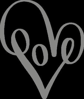 Muursticker 'Love sierlijk'