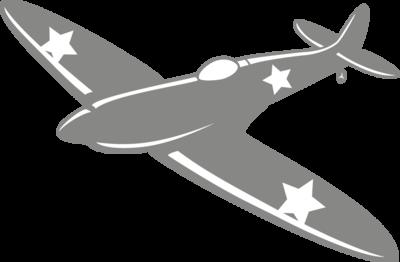 Muursticker 'Legervliegtuig'