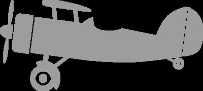 Muursticker 'Vliegtuig'
