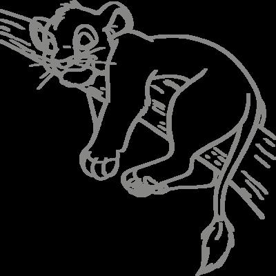 Muursticker 'Simba'