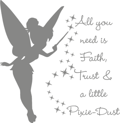 Muursticker 'All you need is faith, trust & a little Pixie-Dust'
