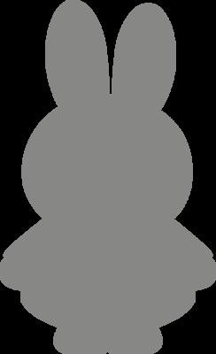 Muursticker 'Nijntje silhouette'