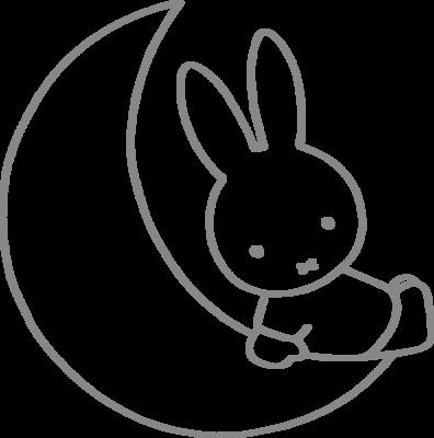 Muursticker 'Nijntje op de maan'
