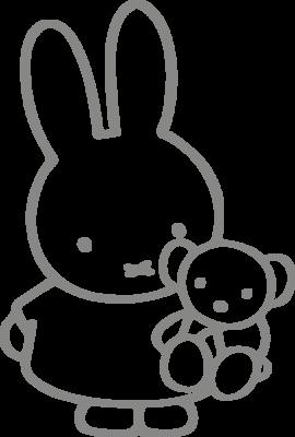 Muursticker 'Nijntje met beer'