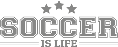 Muursticker 'Soccer is life'