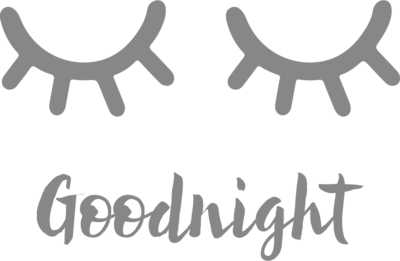 Muursticker 'Goodnight'