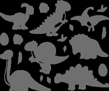 Muursticker Dino's set | Muur & Stickers