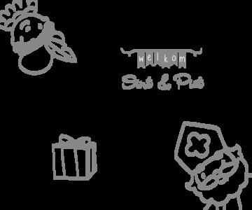 Raamsticker Sint en Piet | Muur & Stickers