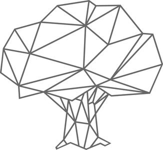 Muursticker Boom geometrisch   Muur & Stickers