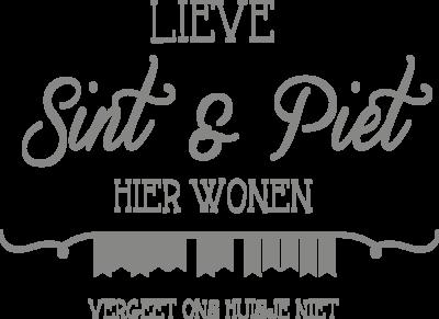 Raamsticker Sint en Piet hier wonen | Muur en Stickers