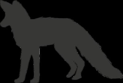 Krijtbordsticker vos   Muur & Stickers