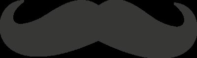 Krijtbordfolie snor | Muur & Stickers