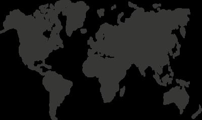 Krijtbordfolie wereldkaart   Muur & Stickers